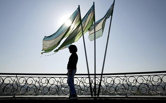 Флаги Узбекистана вТашкенте