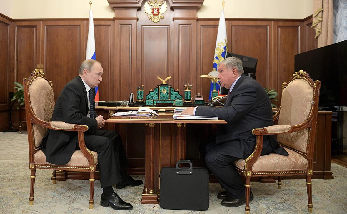 Путин поручил Сечину «как следует посчитать» проект «Восток Ойл»