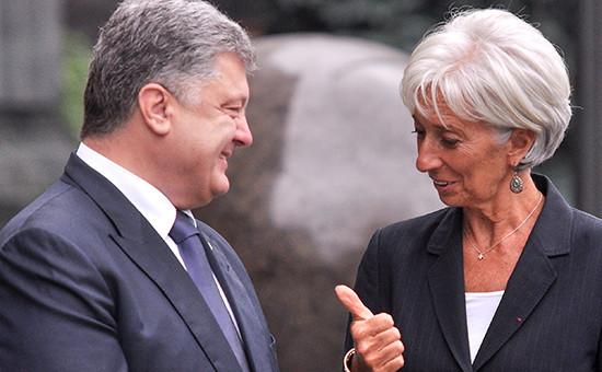 Президент Украины Петр Порошенко и глава Международного валютного фонда (МВФ) Кристин Лагард