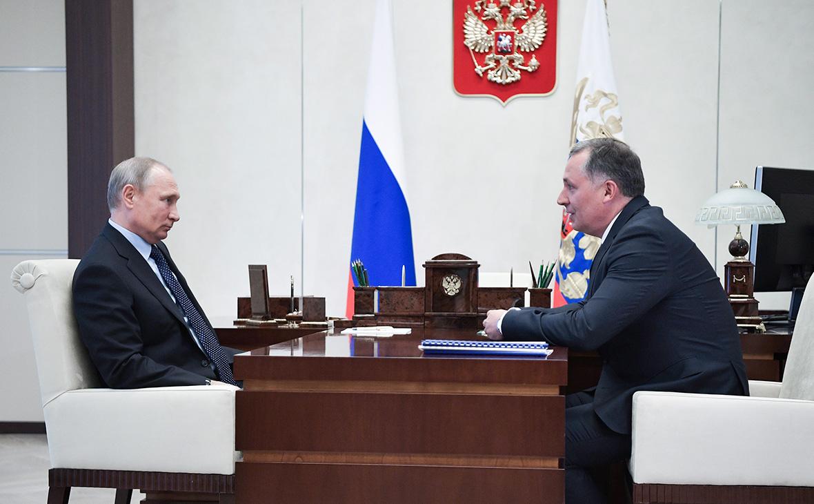 Владимир Путин и Станислав Поздняков