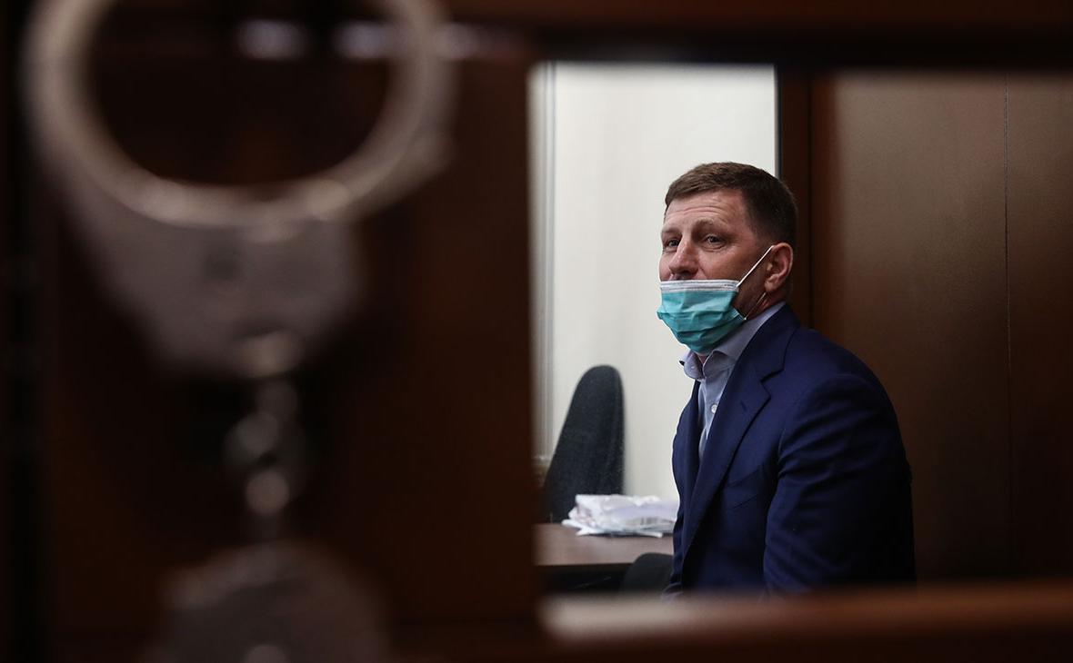 Сергей Фургал перед избранием меры пресечения в Басманном суде