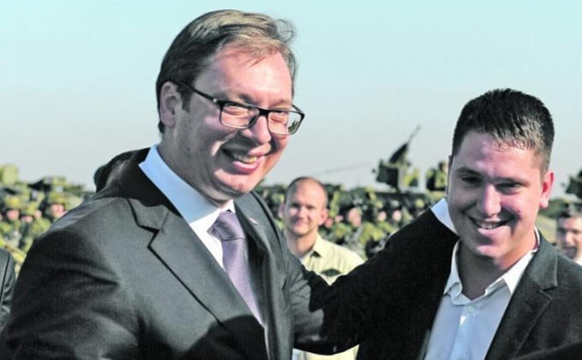 Александр Вучич и его сын Данило