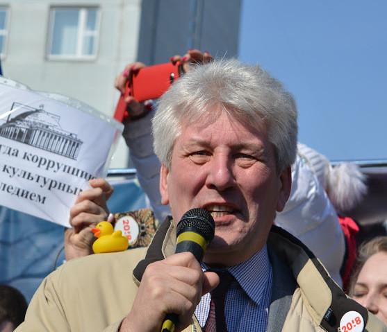 Андрей Гладченко на антикоррупционном митинге в Новосибирске, 26 марта