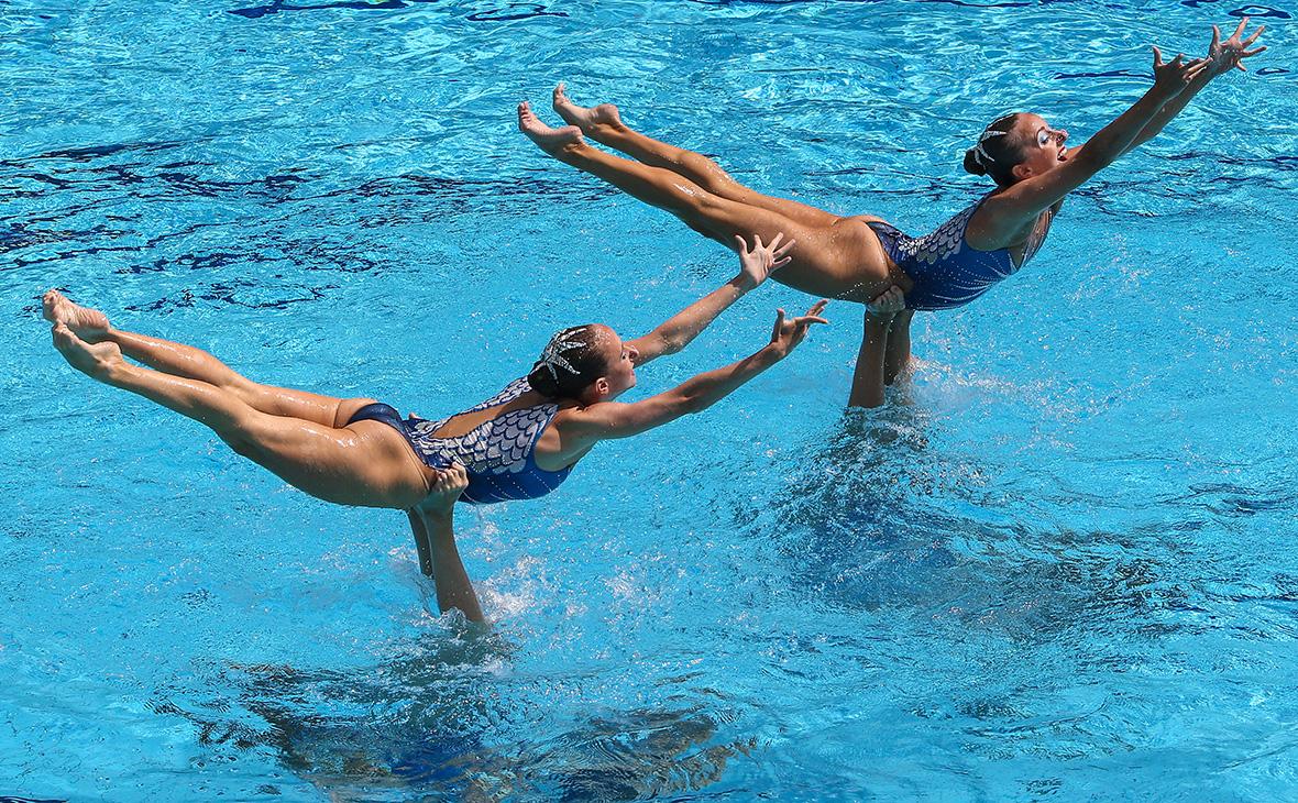 Российские синхронистки на Олимпийских играх в Рио-де-Жанейро. 2016 год