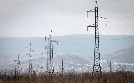 Линия электропередачи вКрыму