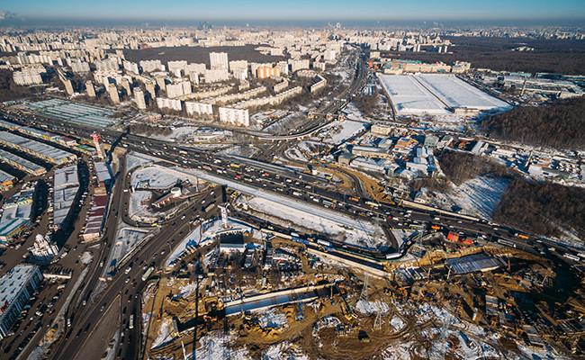 Вид наМКАД ирайон Ясенево вМоскве