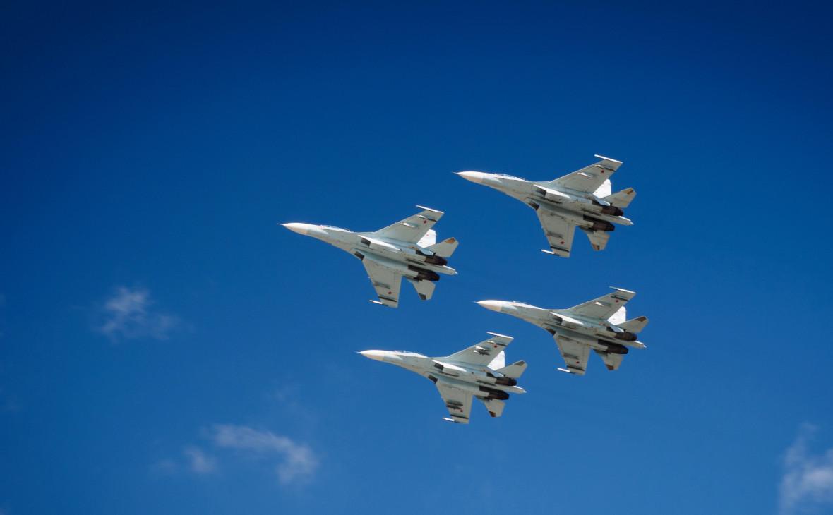 Су-27 подняли дважды за сутки из-за бомбардировщиков США над Балтикой