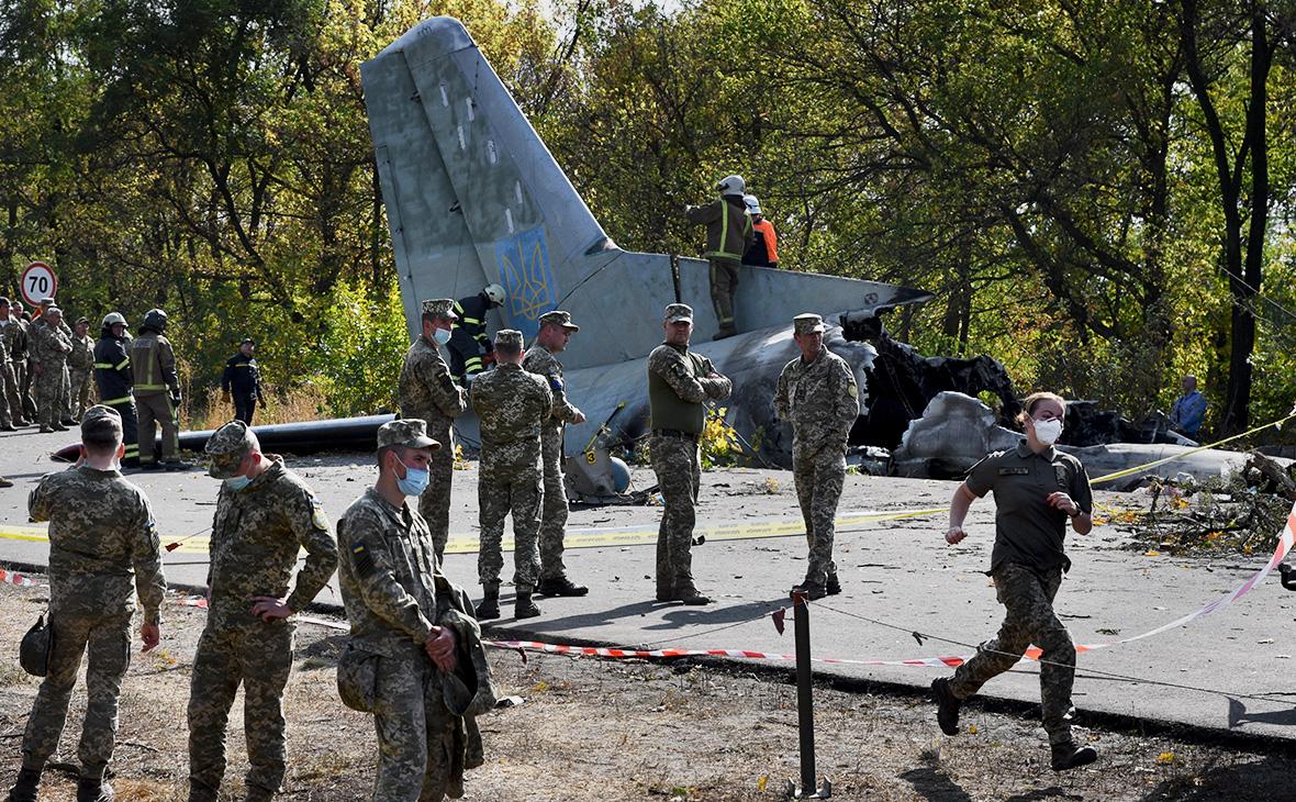 Место крушения самолёта Ан-26 возле города Чугуев, Харьковская область