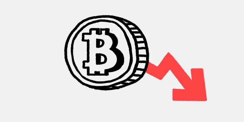 Цена Bitcoin упала ниже $9000 :: РБК.Крипто