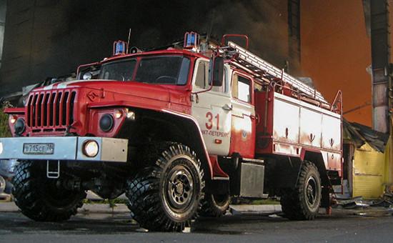 Пожарная машина, август 2015 года