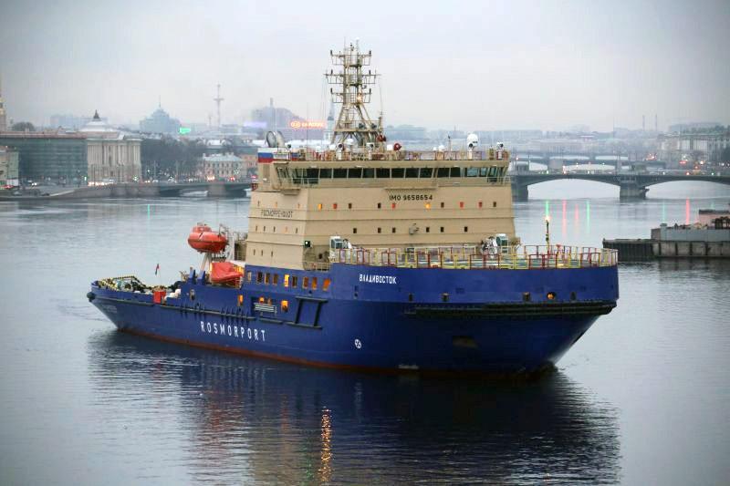 Ледокол мощностью около 16 МВт, принадлежащий ФГУП «Росморпорт»