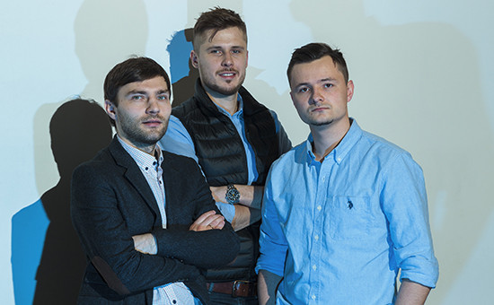 Сооснователи Statsbot.Павел Тиунов,Михаил Меланьин иАртём Кейдунов(слева направо)