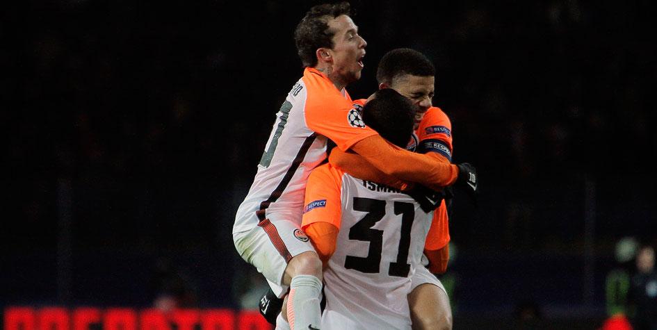 «Шахтер» обыграл «Рому» в первом матче плей-офф Лиги чемпионов