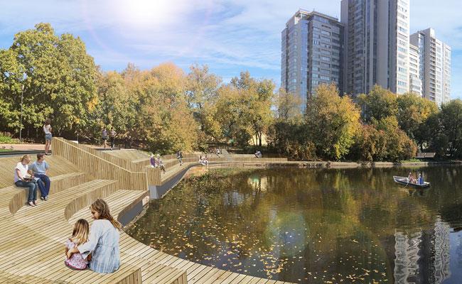 Проект благоустройства Красногвардейских прудов