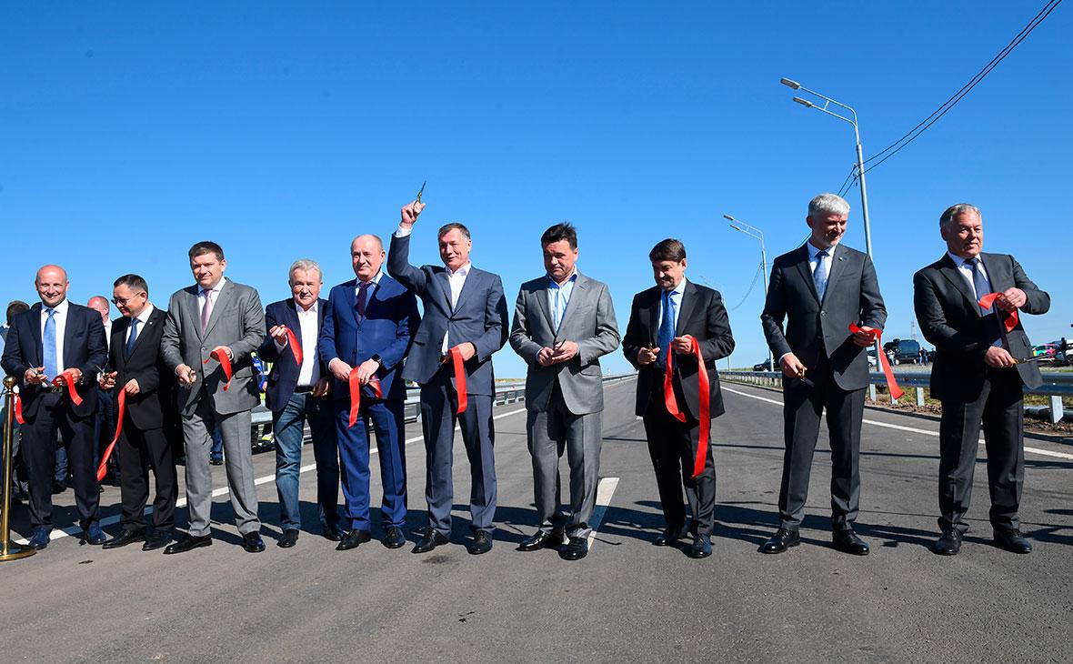 Церемония открытия участка Центральной кольцевой автодороги от Можайского до Новорижского шоссе