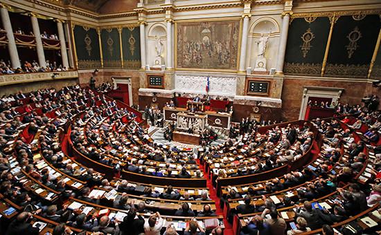 Во время заседания Национального собрания Франции, сентябрь 2014 года