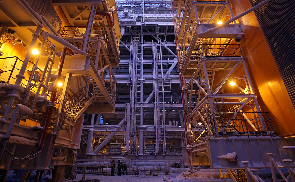 Строительство первой линии завода «Ямал СПГ»