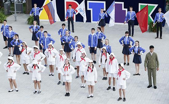 В международном детском центре «Артек» вКрыму