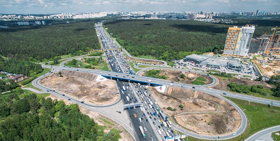 Вид на развязку МКАД с Рублевским шоссе