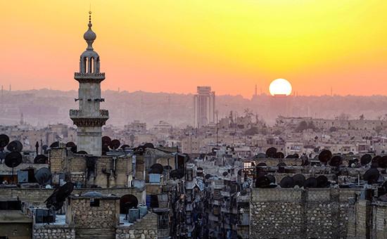 Вид насирийский город Алеппо. 5 октября 2016 года