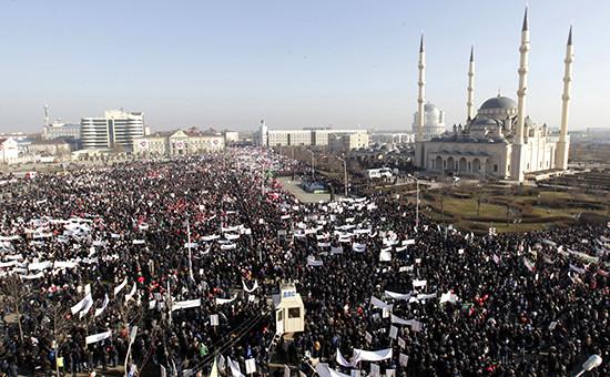 Митинг  «Любовь к пророку Мухаммеду» в Грозном