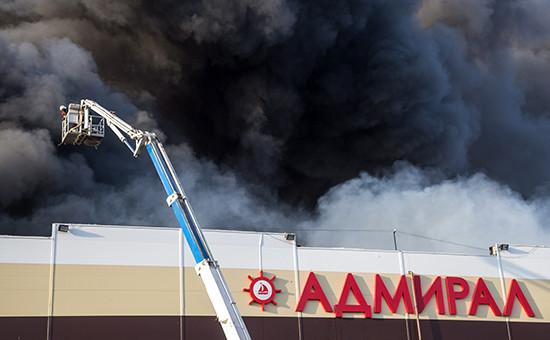 Пожар в торговом центре «Адмирал»