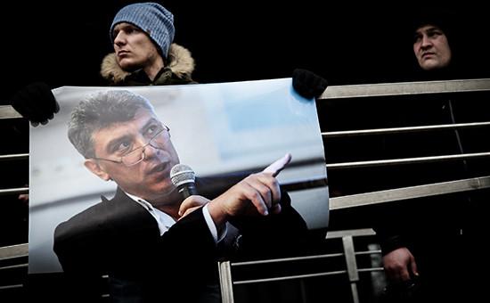 Акция в память о Борисе Немцове в Санкт-Петербурге. Архивное фото
