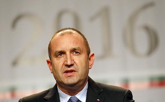 Кандидат впрезиденты Болгарии Румен Радев