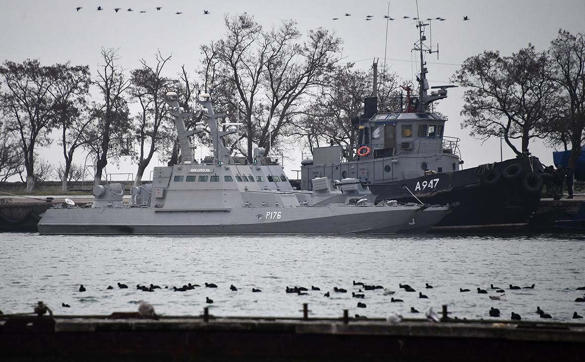 Малые бронированные артиллерийские катера «Никополь», «Бердянск» и рейдовый буксир «Яны Капу» ВМС Украины