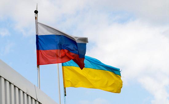 Флаги России иУкраины