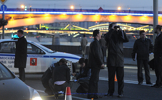 Криминалисты на месте убийства Руслана Ямадаева