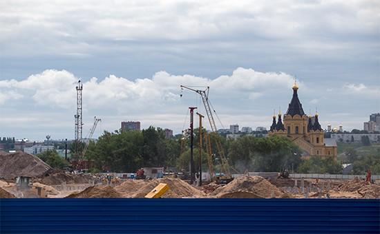 """Строительная площадка стадиона """"Нижний Новгород"""""""