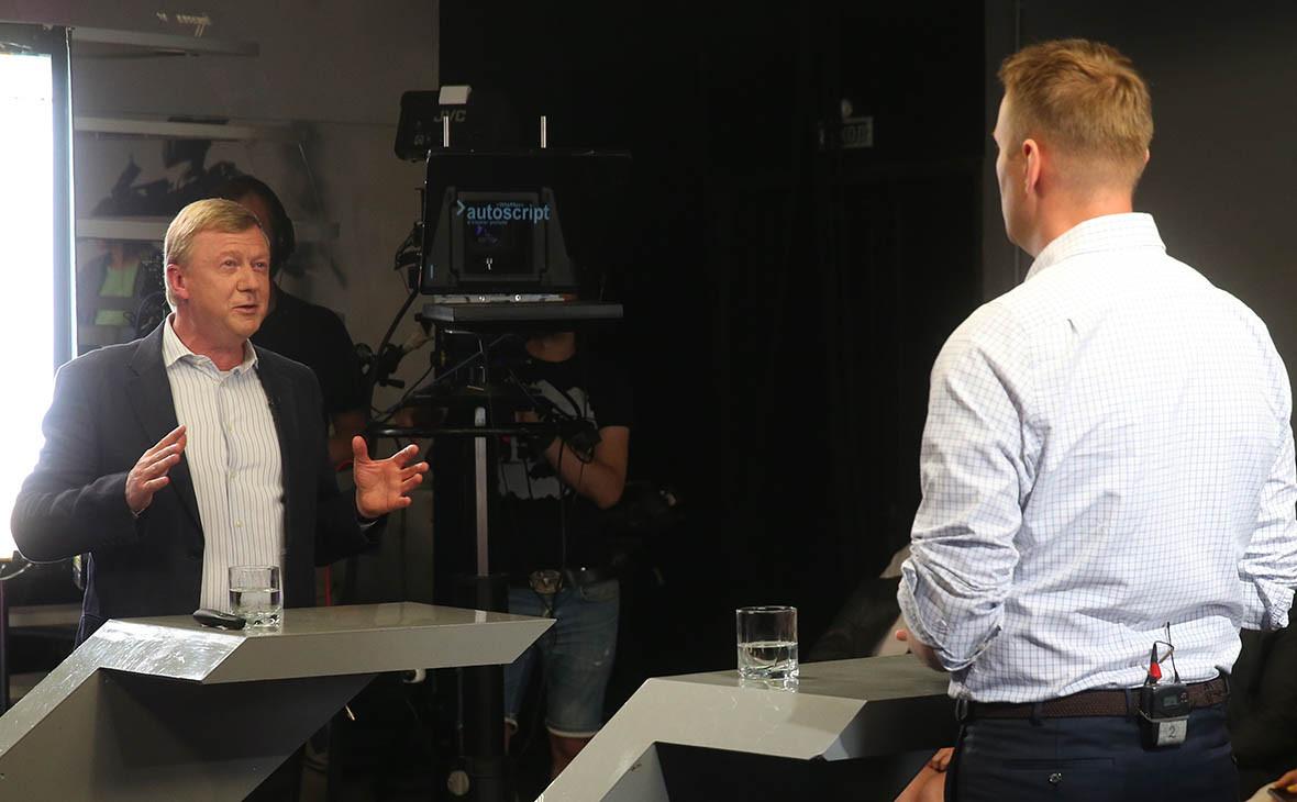 Анатолий Чубайс и Алексей Навальный
