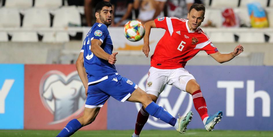 Nga thắng Síp 5:0 và lọt vào Euro-2020