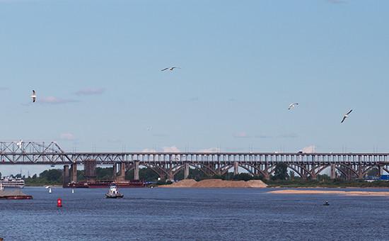 Борский мост и строящийся дублер, Нижний Новгород