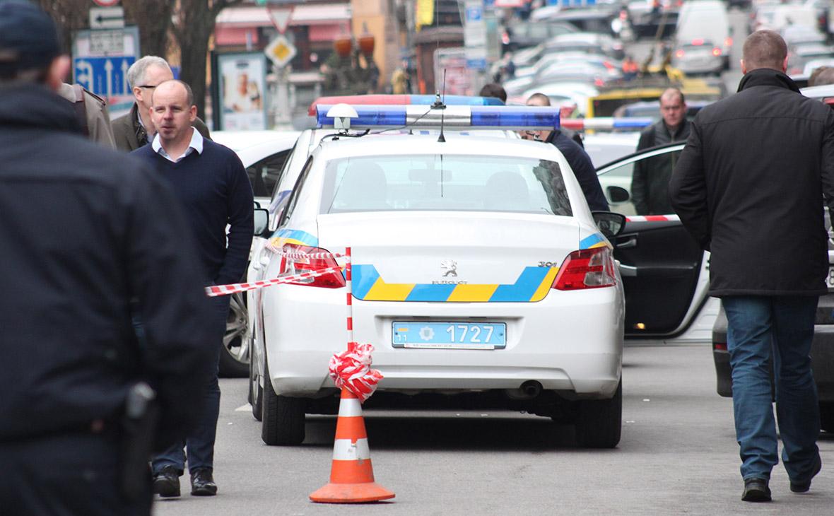 Полиция на месте убийства Дениса Вороненкова. Киев. Март, 2017 года
