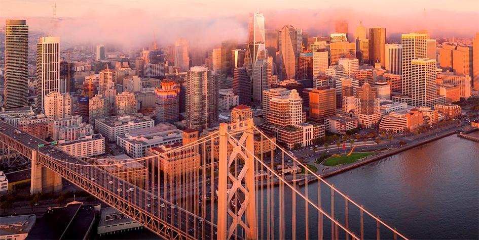 Визуализацияскайлана Сан-Франциско с новым небоскребом