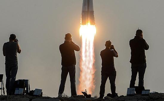 Старт ракеты-носителя спилотируемым кораблем «Союз МС».Байконур, 6 июля 2016 года