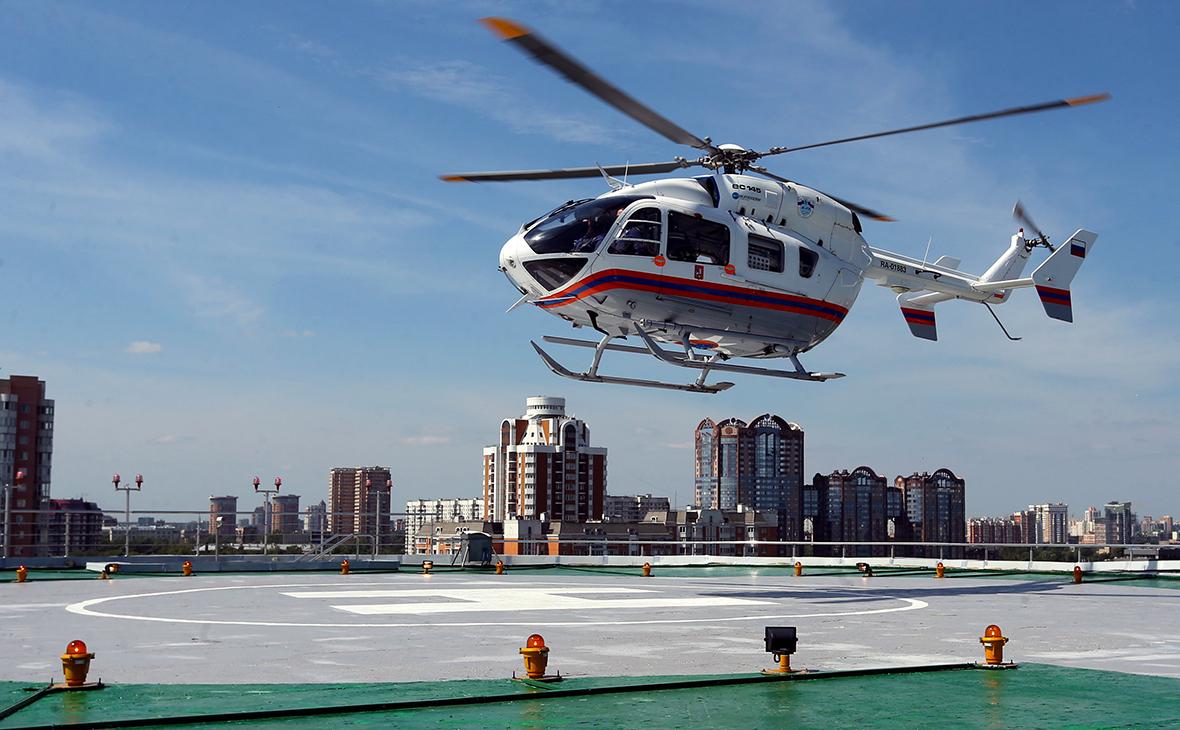 Вертолетная площадка на крыше национального центра управления в кризисных ситуациях