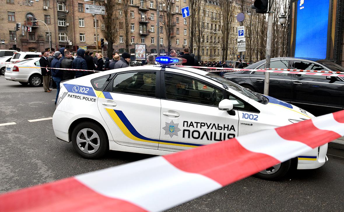 Полиция на месте убийства Дениса Вороненкова. Киев, март 2017 года