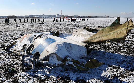 Место крушения Boeing737-800 в Ростове-на-Дону
