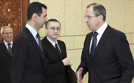 Башар Асад и Сергей Лавров