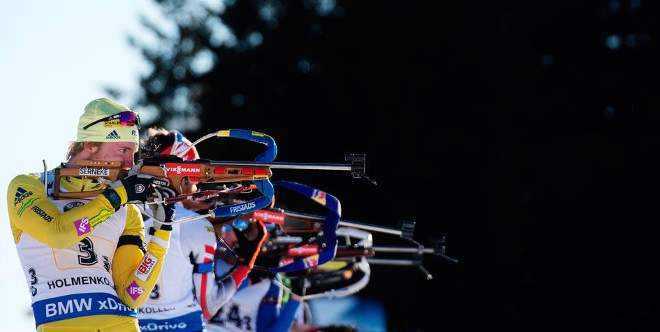 Российские биатлонисты выиграли бронзу в эстафете на этапе Кубка мира