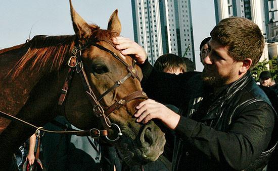 Глава Чечни Рамзан Кадыров на 1-ом Фестивале верховой езды в Грозном. Архивное фото.