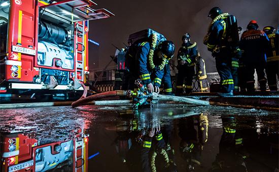Сотрудники пожарной службы вовремя ликвидации