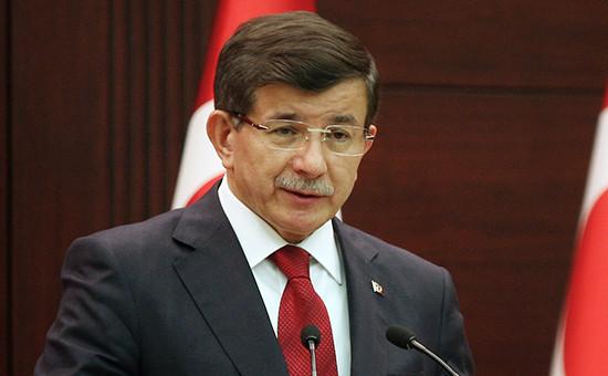 Глава правительства Турции Ахмет Давутоглу