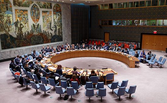 ЗаседаниеСовета безопасности ООН