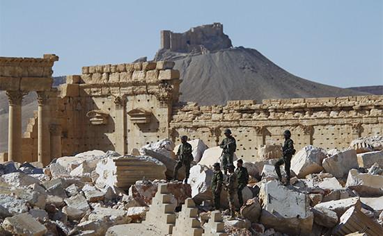 Солдаты сирийской армии в Пальмире. Август 2016 года