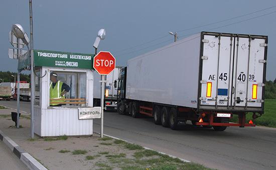 Таможенно-пропускной пунктна границе с Белоруссией
