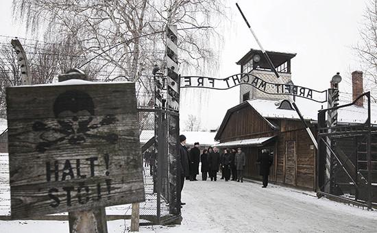 Концлагерь Аушвиц-Биркенау в городе Освенцим